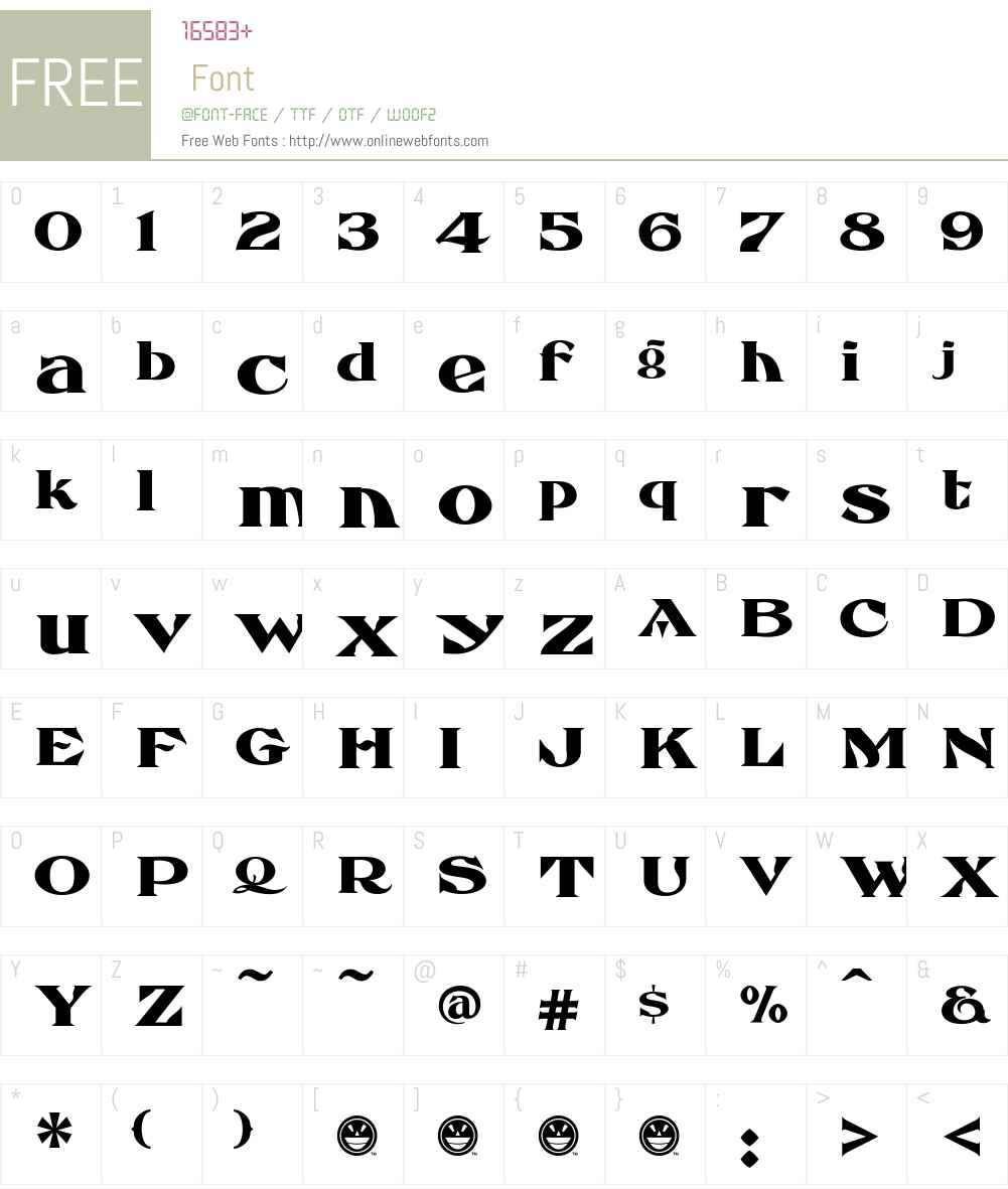 FHA Eccentric French Font Screenshots