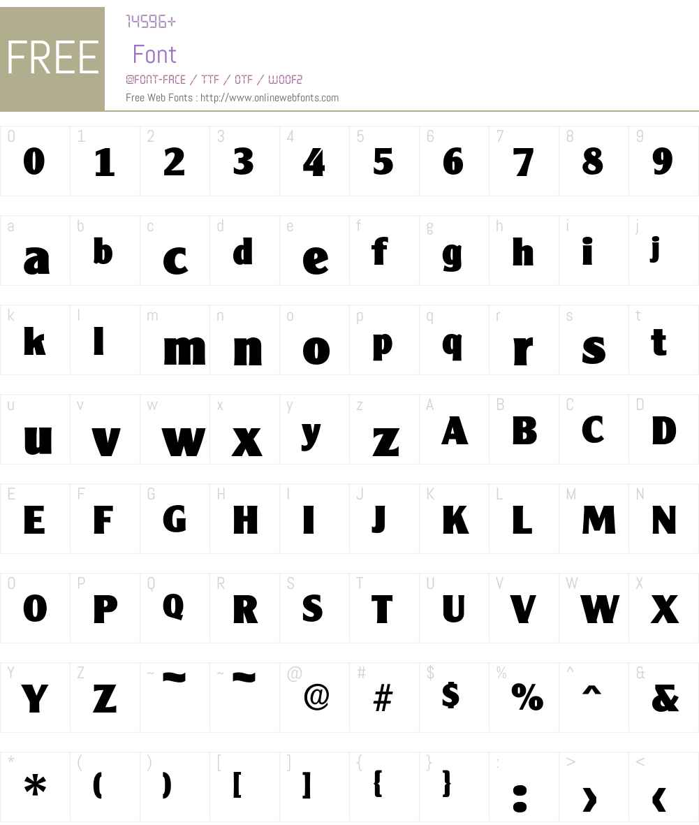 Cleargothic-ExtraBold Font Screenshots