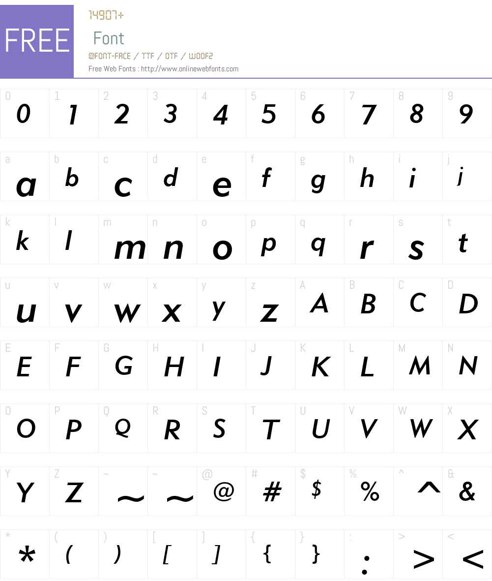 Geometric415W01-MediumIt Font Screenshots