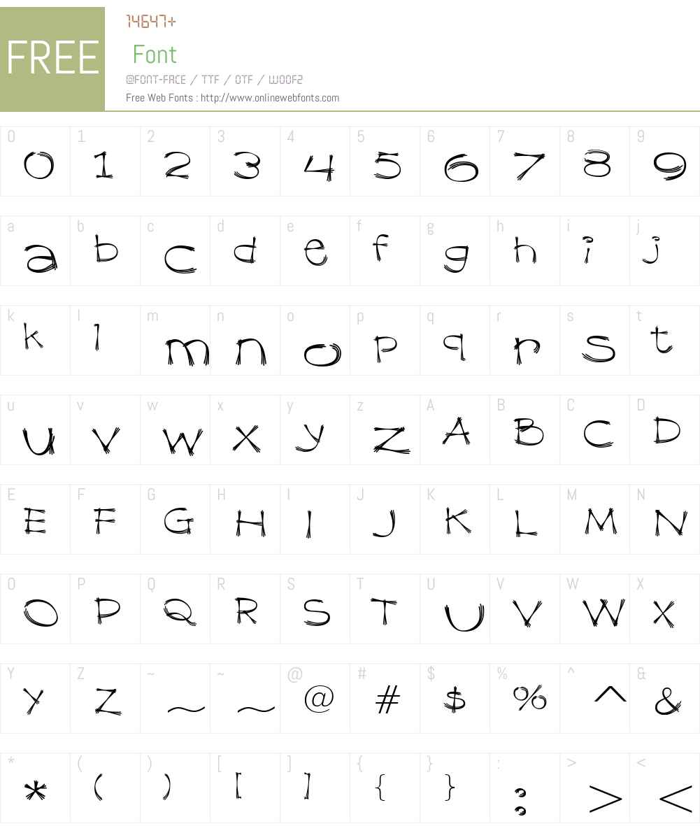 Dragline BTN Dm Font Screenshots