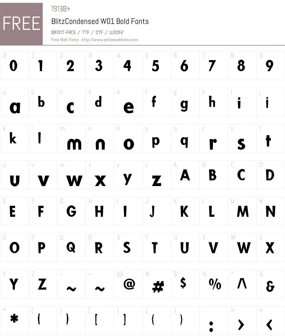BlitzCondensedW01-Bold Font Screenshots