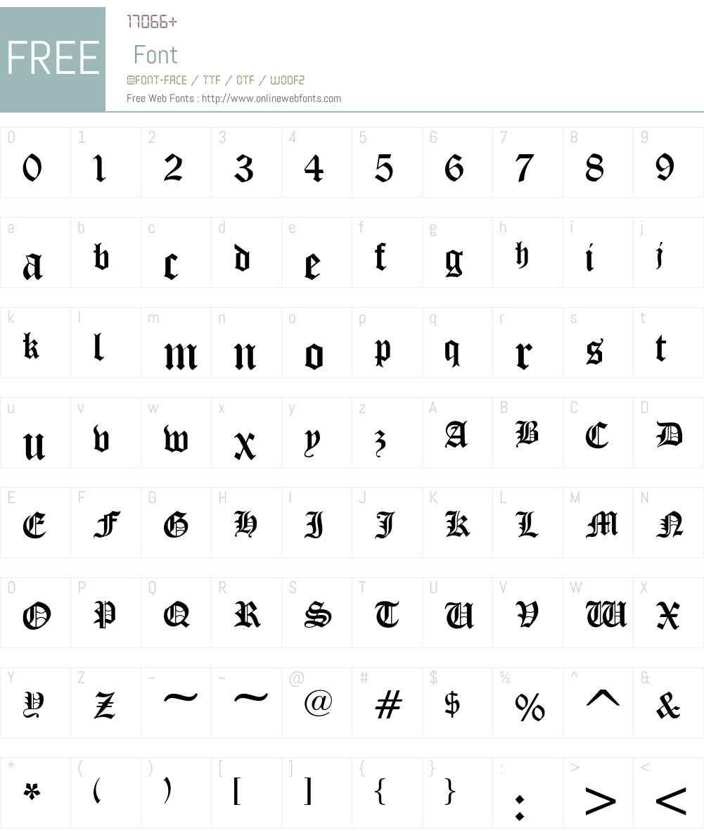 Iglesia-Light Font Screenshots