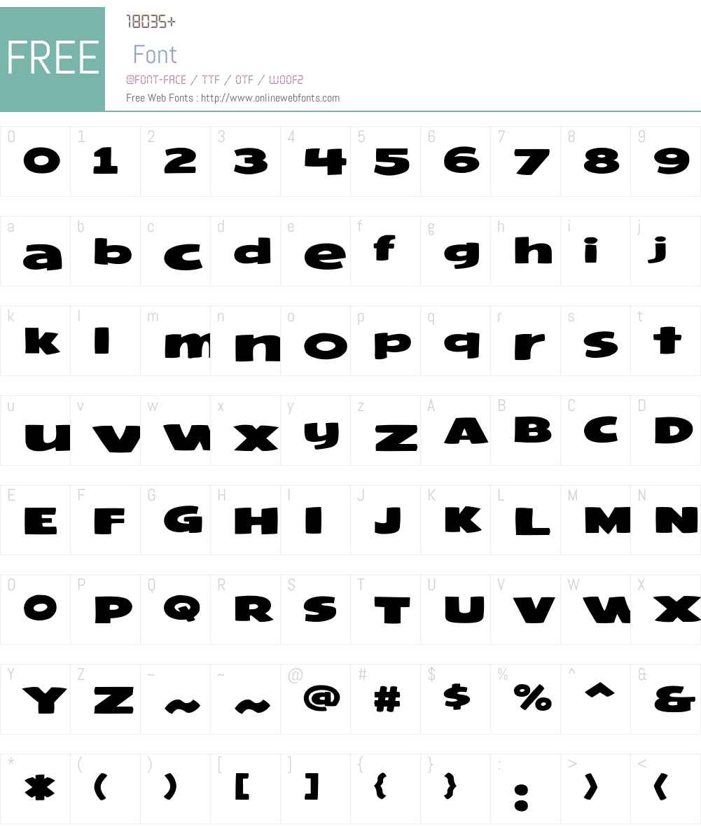 CCFramistatW05-Regular Font Screenshots