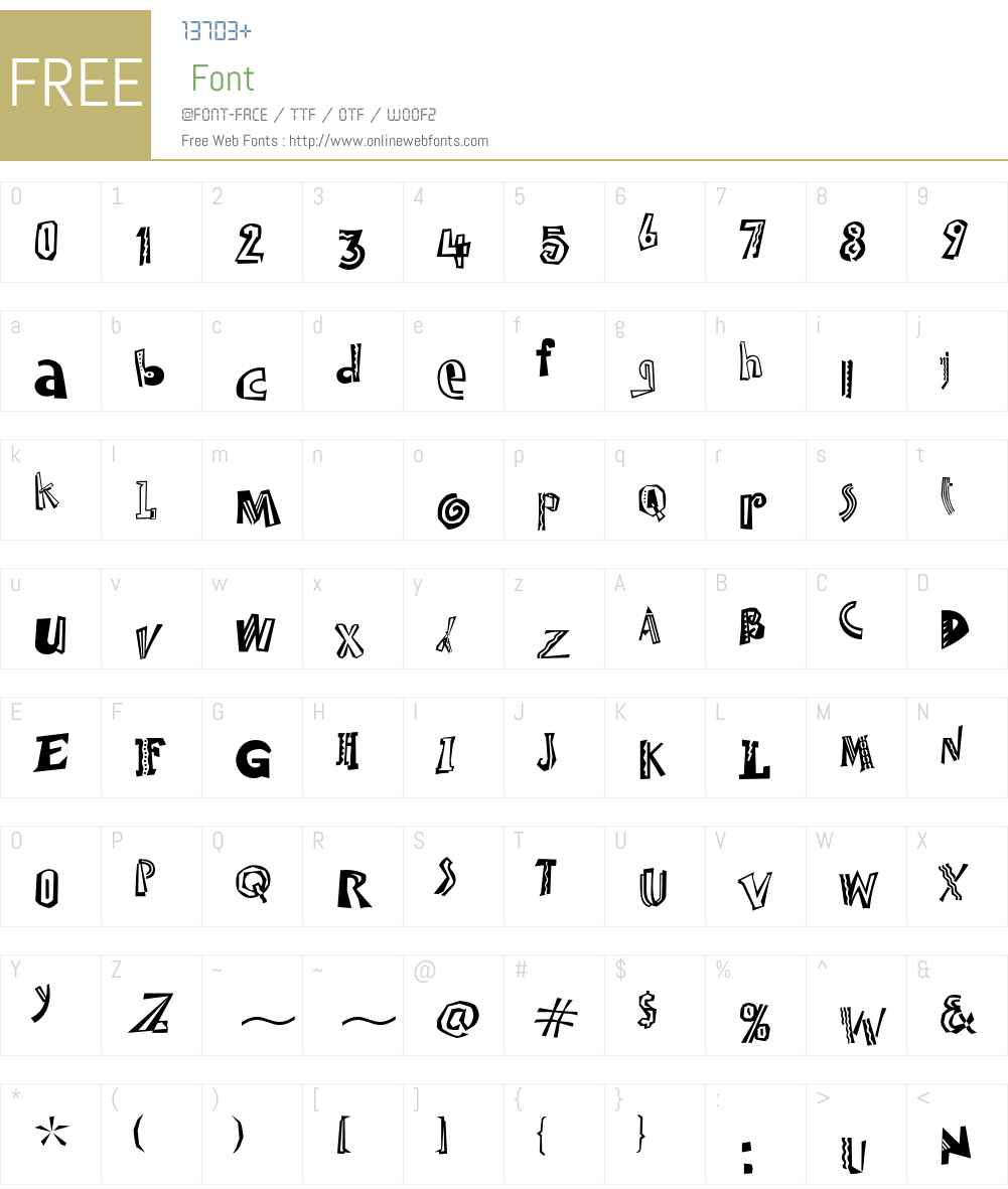 Jambalaya Too ITC Font Screenshots