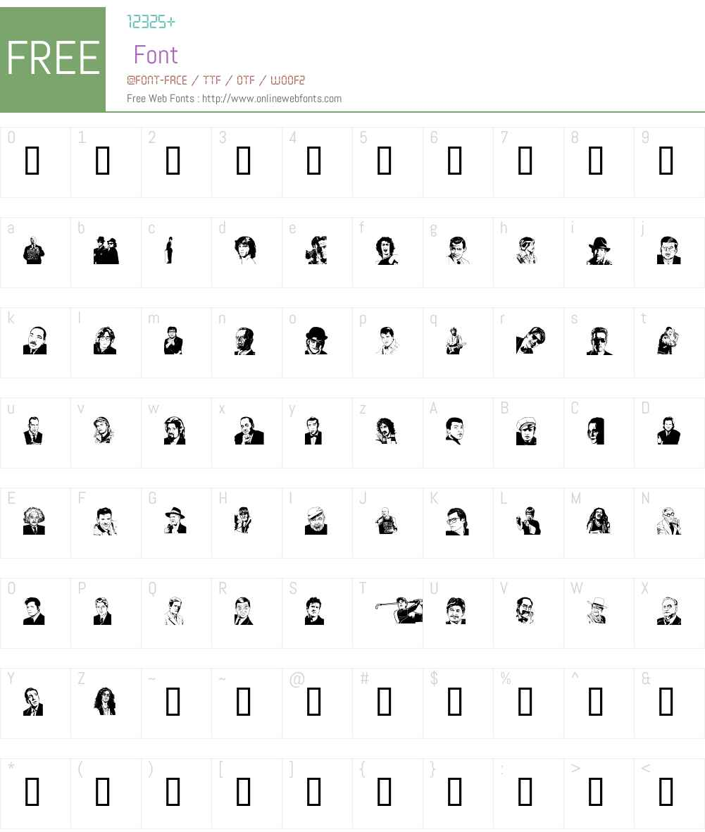 UdeMAN Font Screenshots