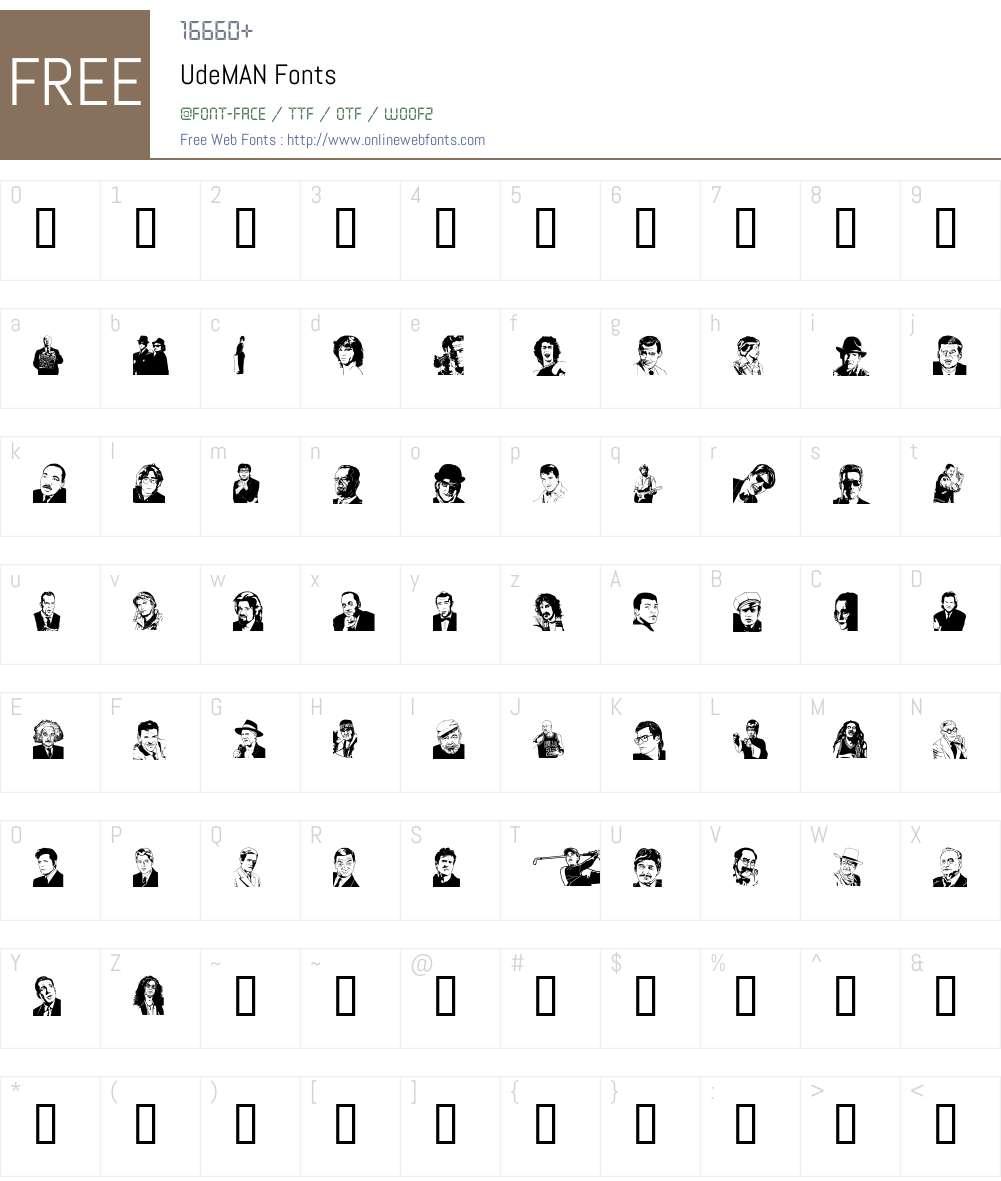 UdeMAN Font Screenshots