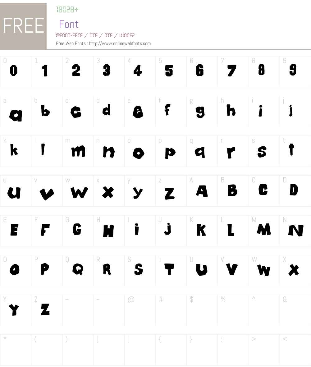 Mala Font Screenshots