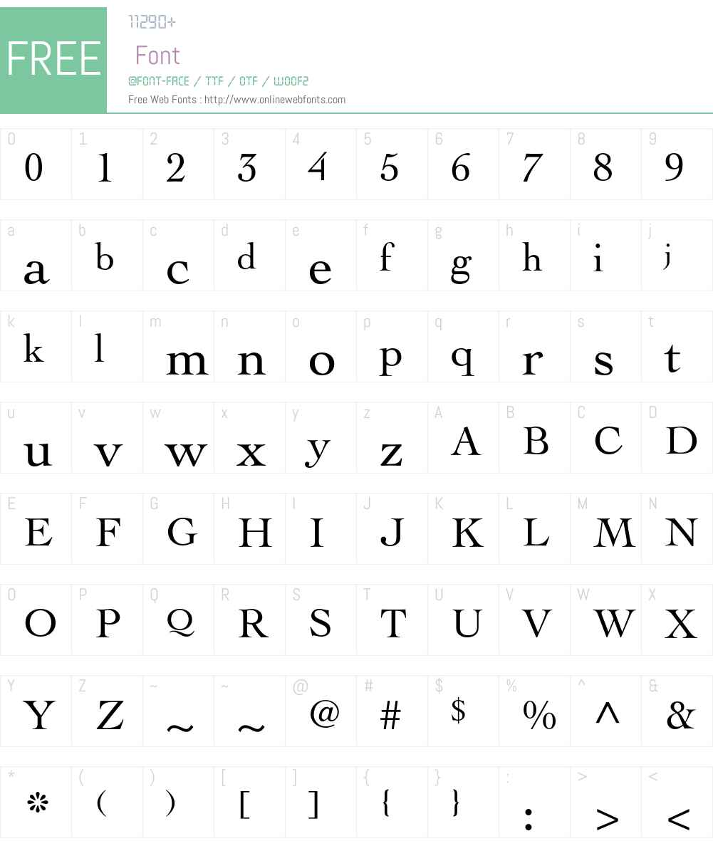 Cochin Font Screenshots