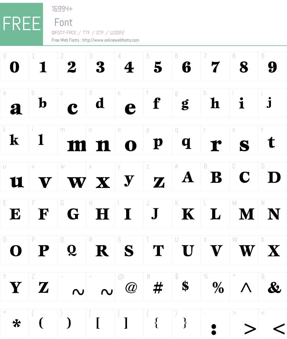 ITC Esprit Font Screenshots