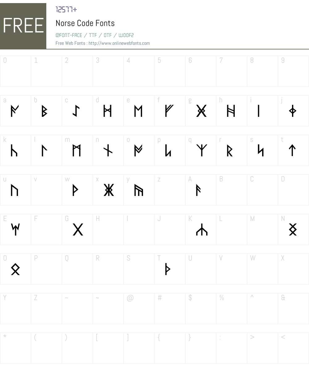 Norse Code Font Screenshots
