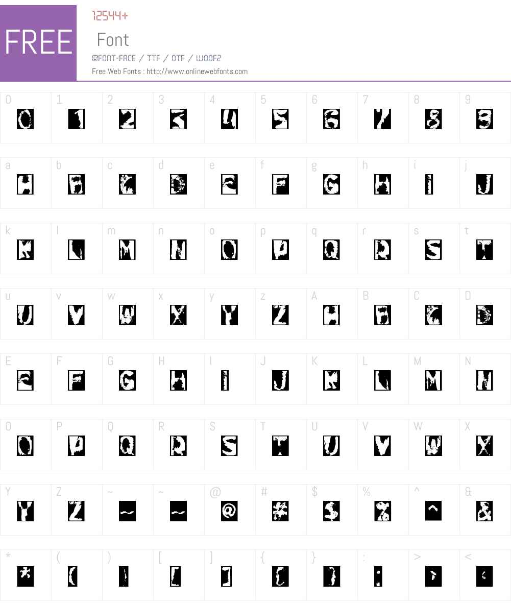 Gulitov Font Screenshots