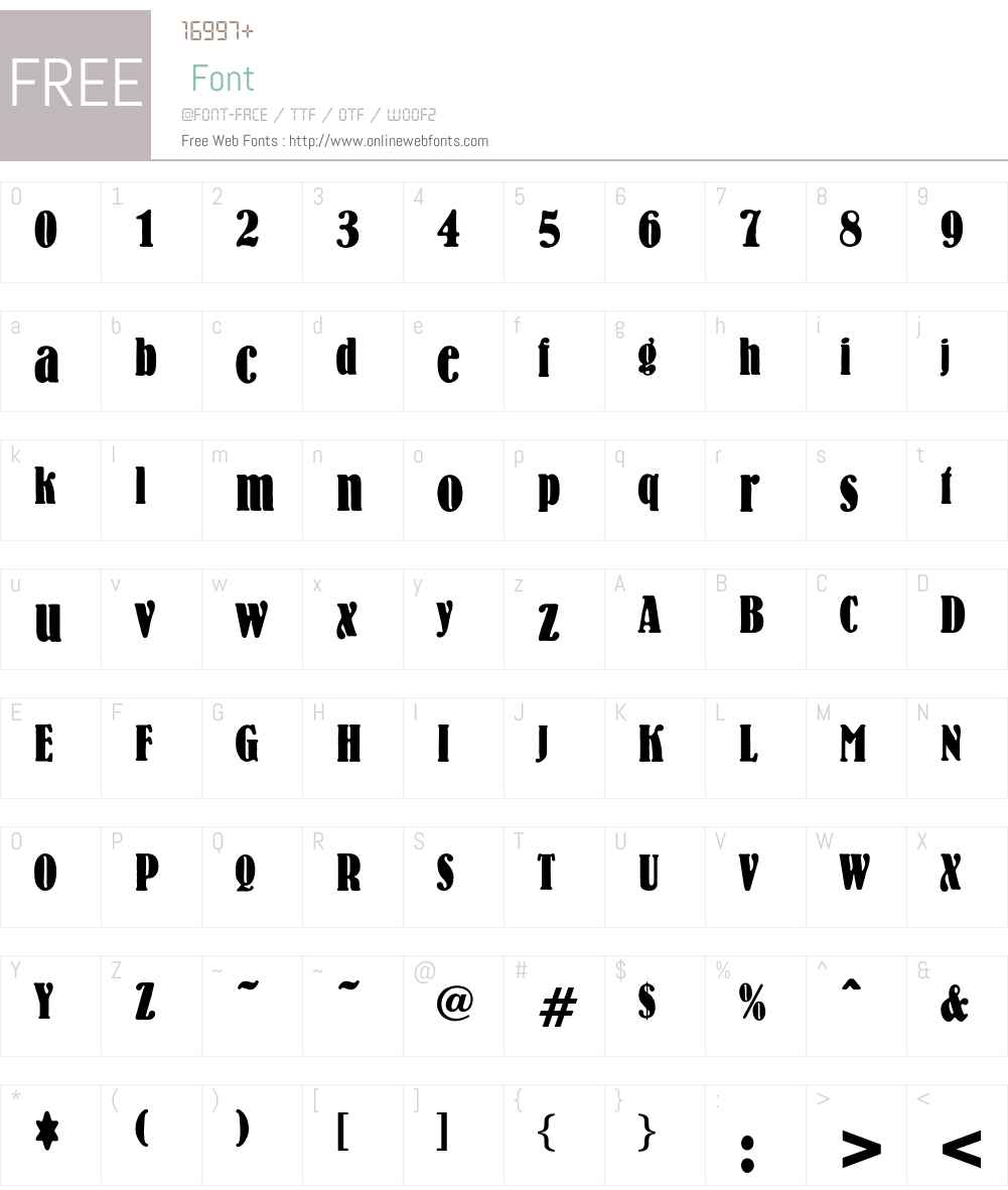 Laurin Font Screenshots