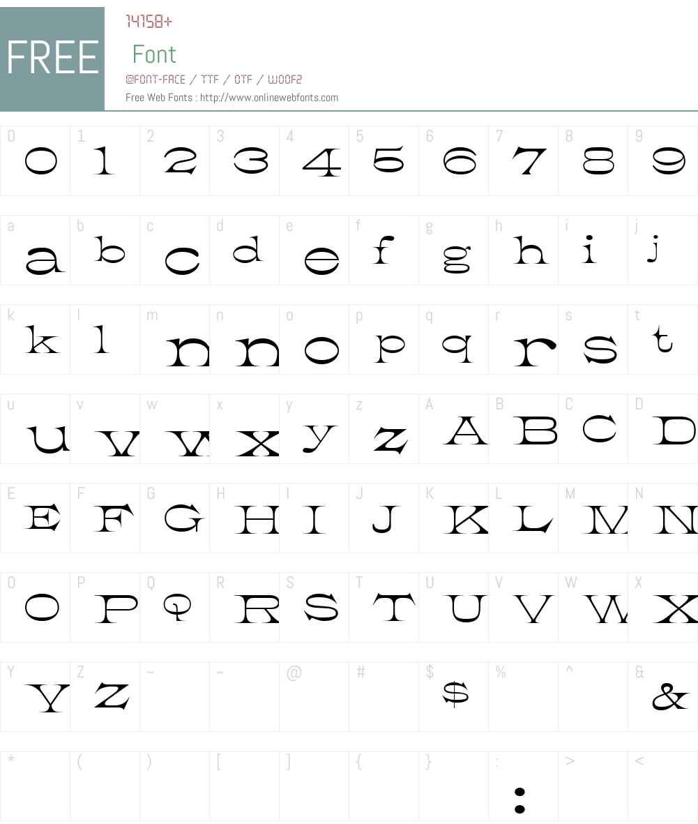 K22 Athenian Wide Font Screenshots