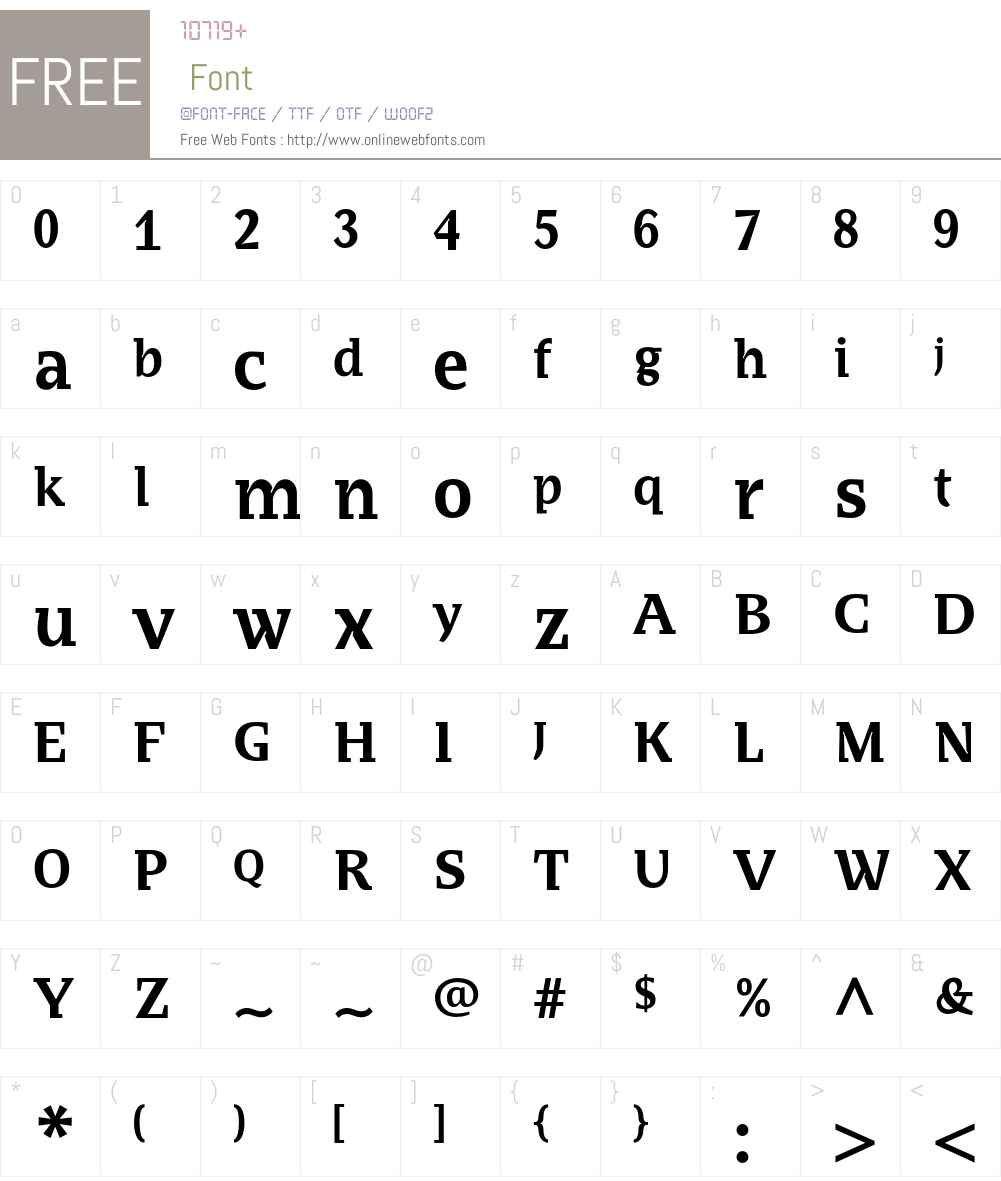 BradloSlabCE Font Screenshots