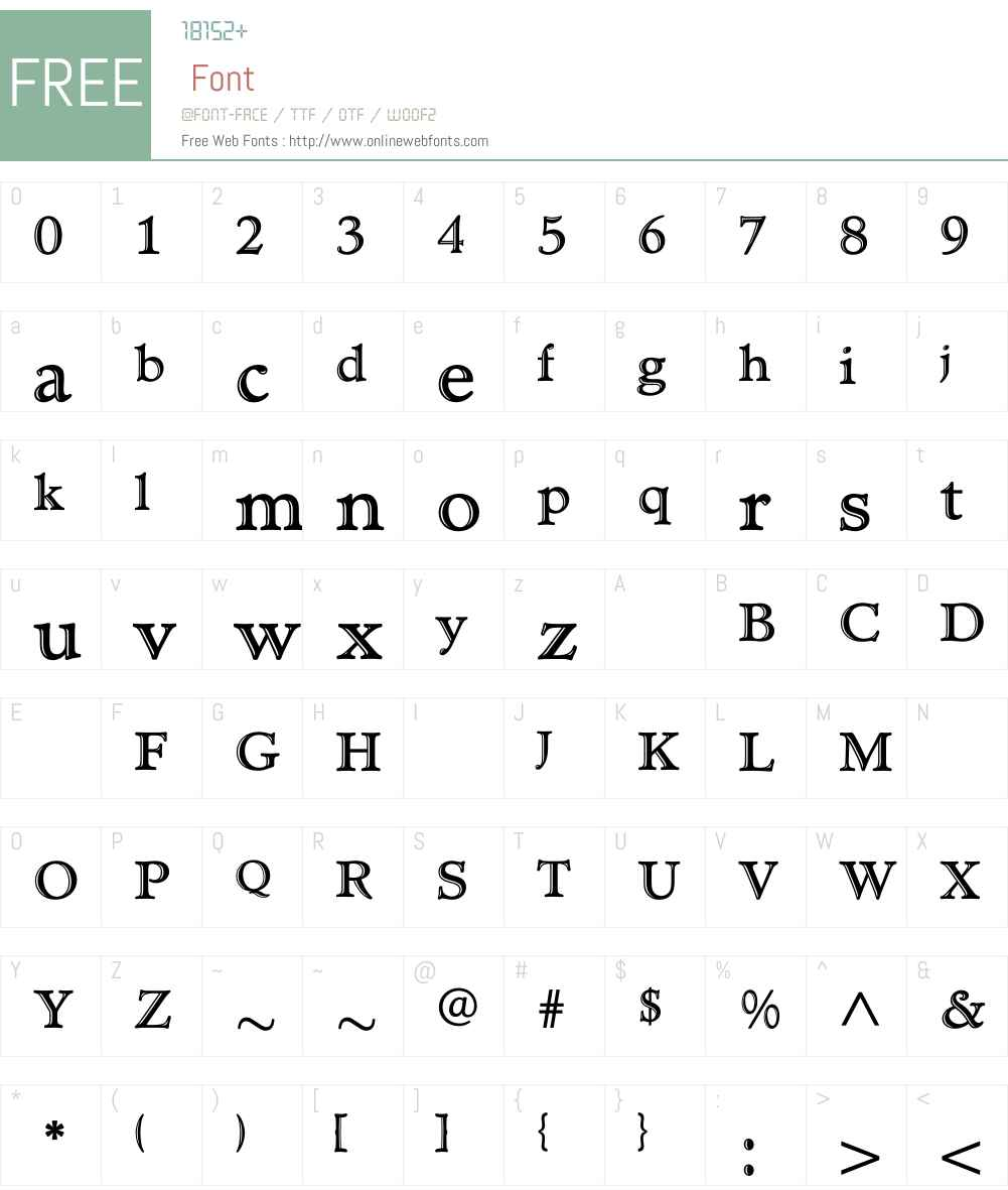 TCAdministerHandtooled Font Screenshots