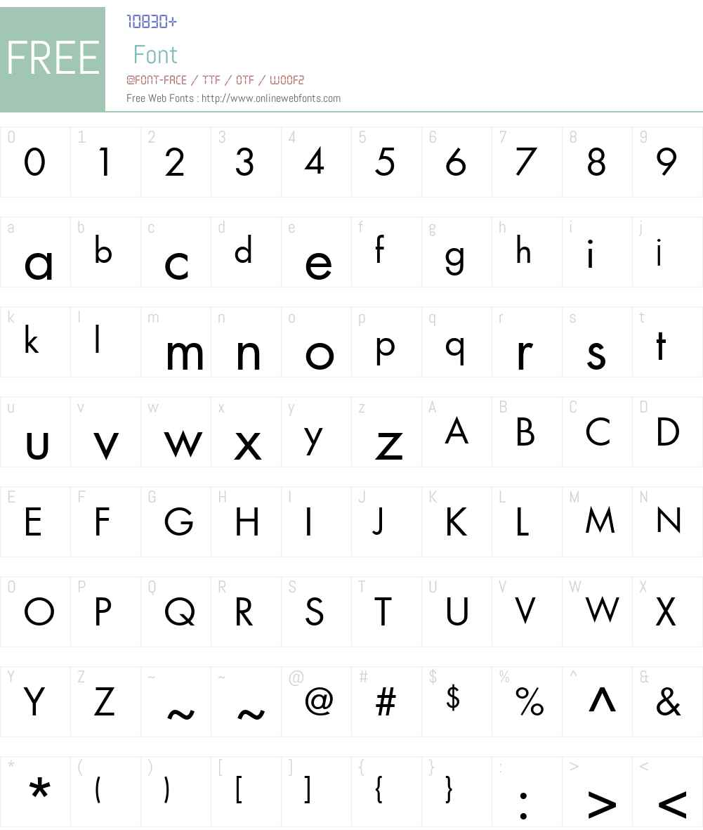 AG_Futura Font Screenshots