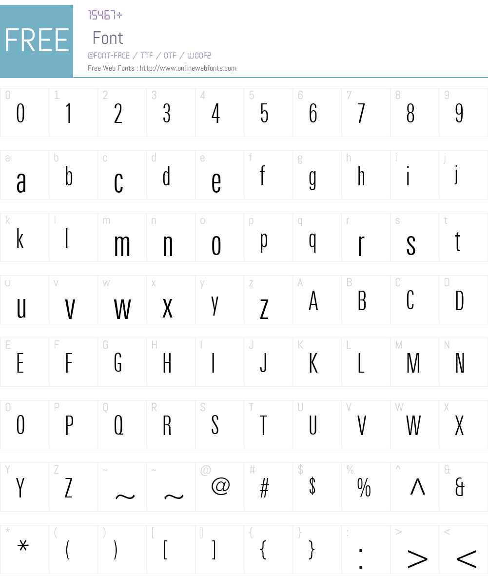 LinotypeUniversW01-LightCm Font Screenshots