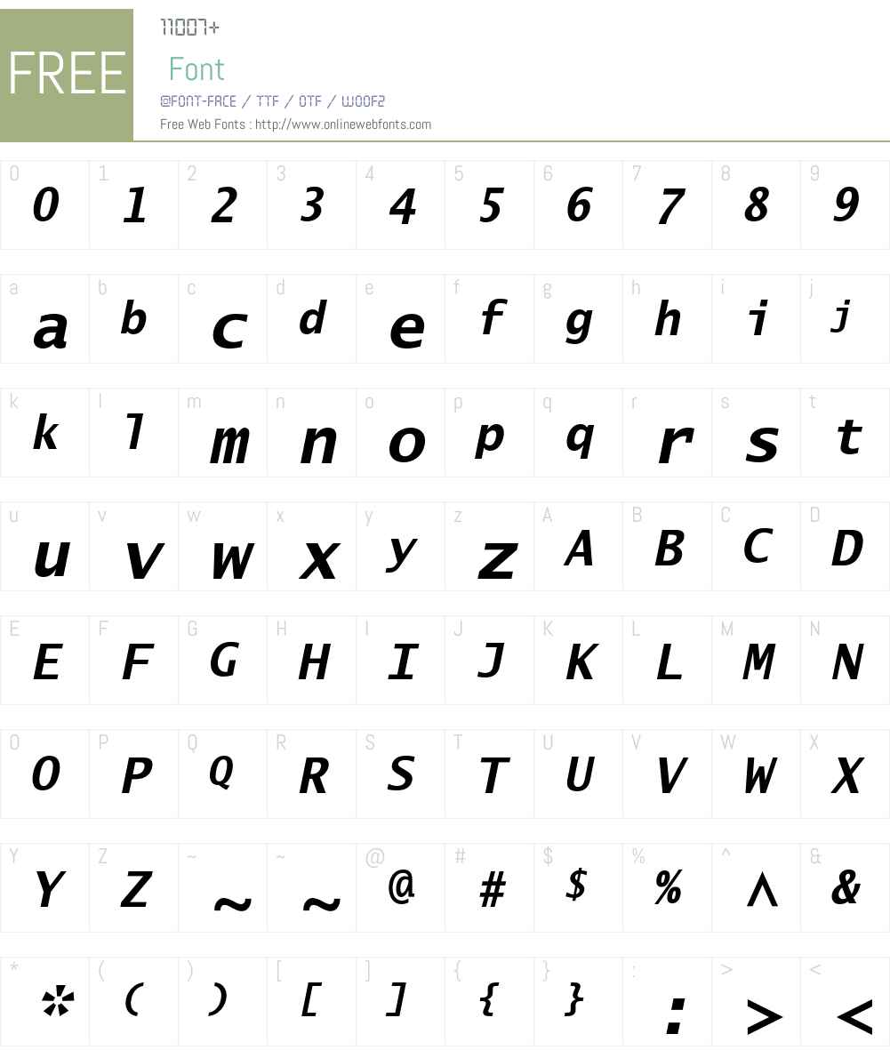 Lucida Sans Typewriter Std Font Screenshots