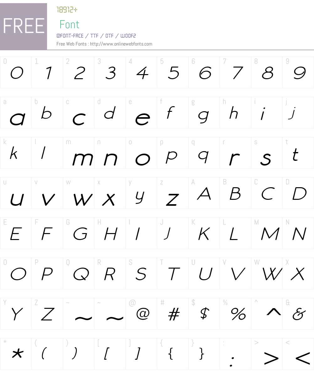 Register Sans BTN Wide Font Screenshots