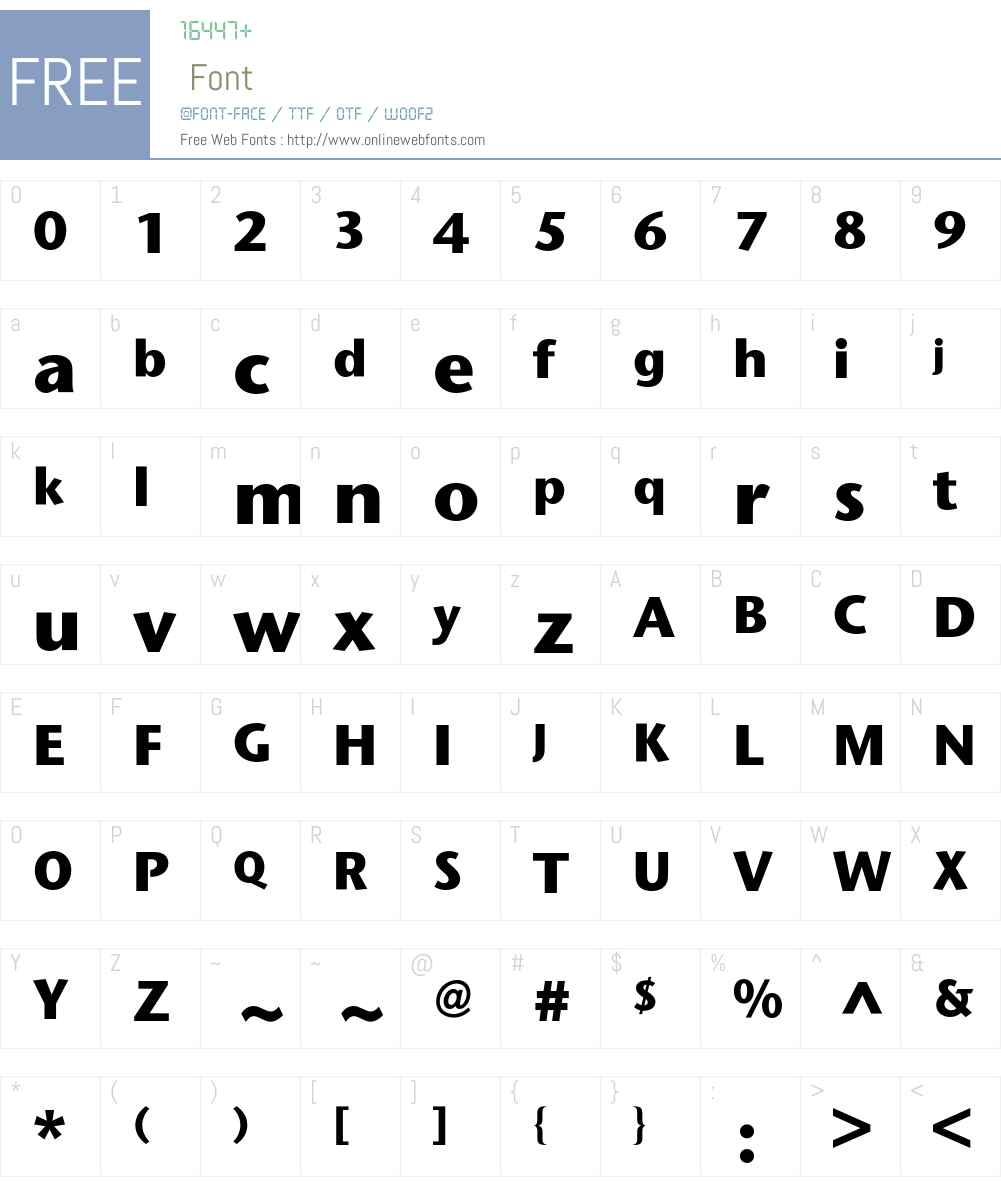 Stone Sans BQ Font Screenshots
