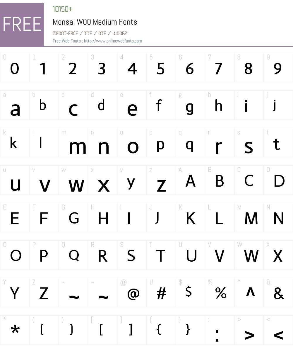 MonsalW00-Medium Font Screenshots