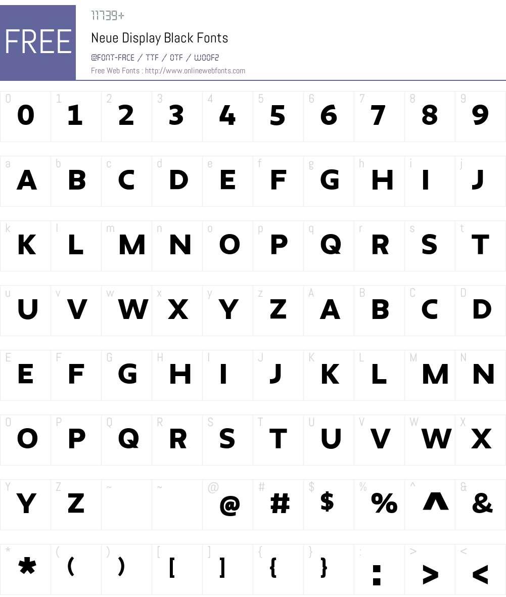 Neue Display Black Font Screenshots