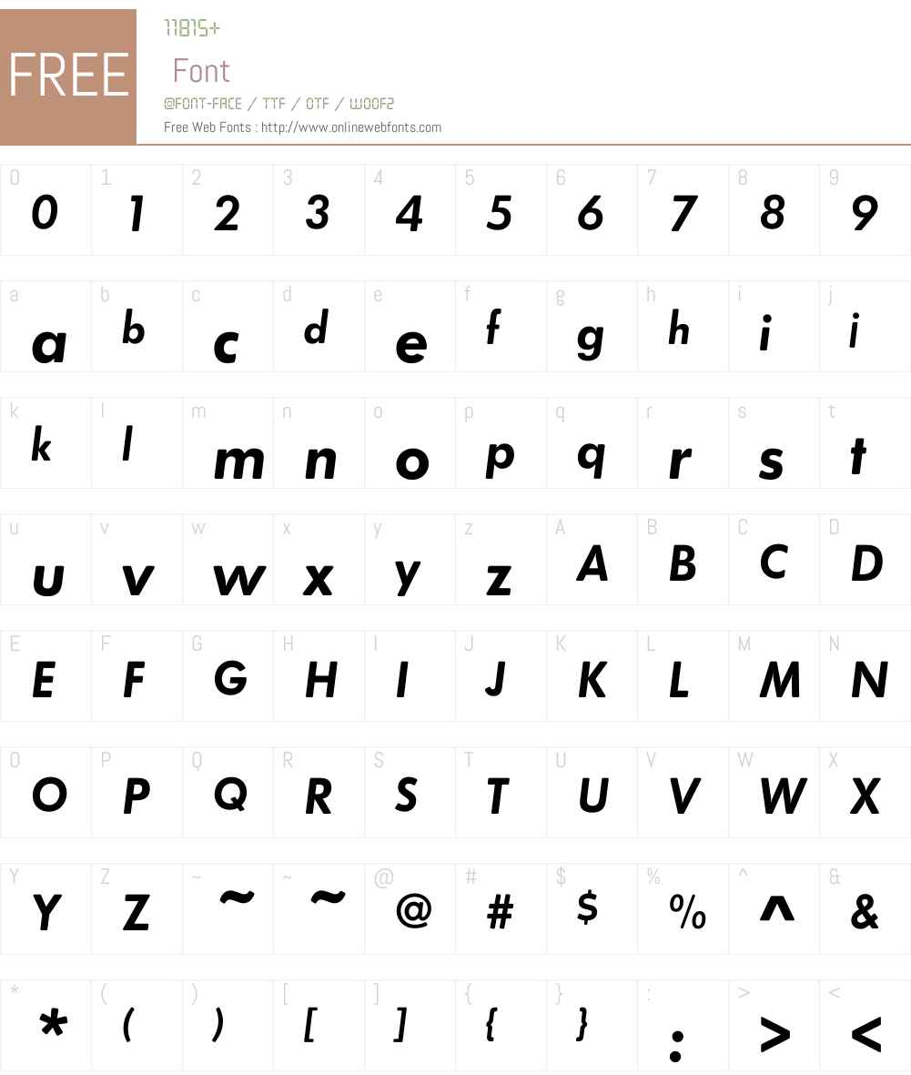 FuturaRoundW01-DemiOblique Font Screenshots