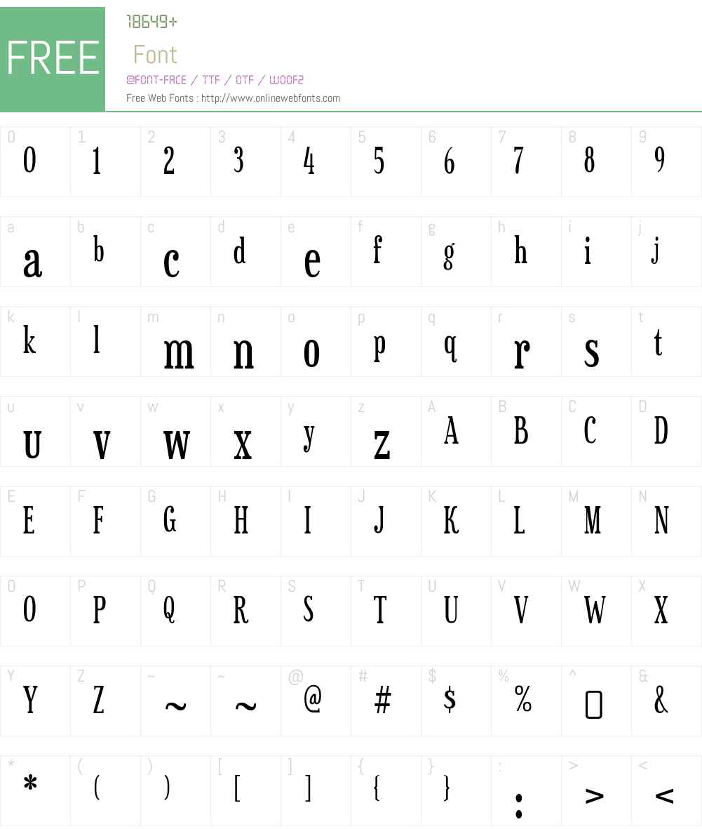 Sexsmith Font Screenshots