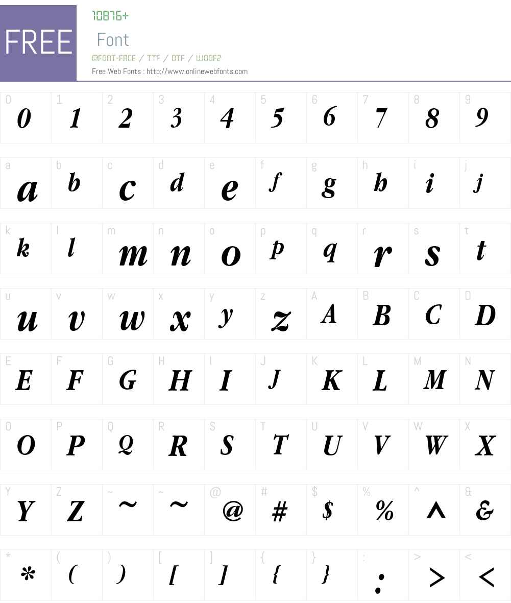 GaramondNarrowC Font Screenshots