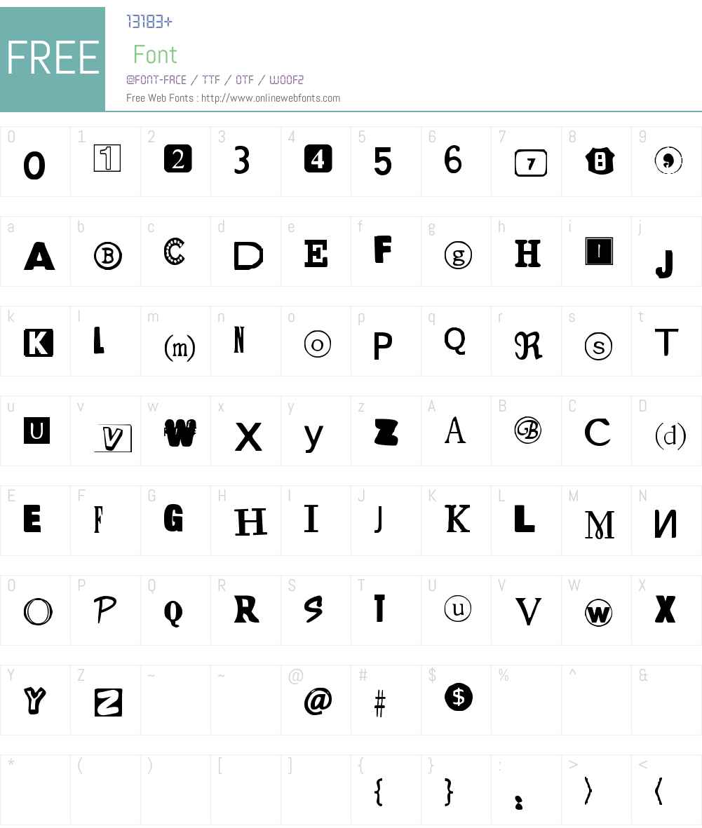 Yet Another Ransom Note Font Screenshots