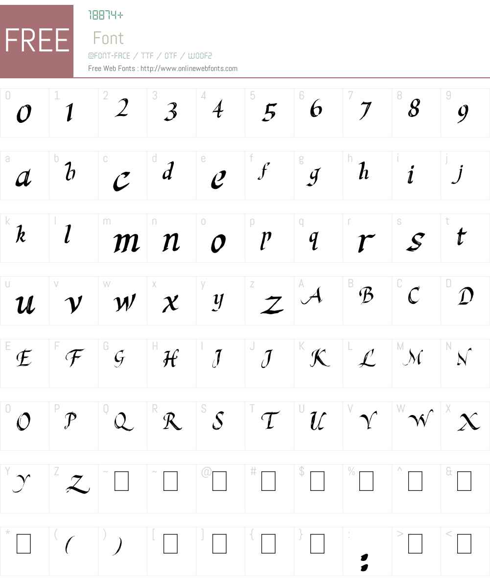 Last King Quest Font Screenshots
