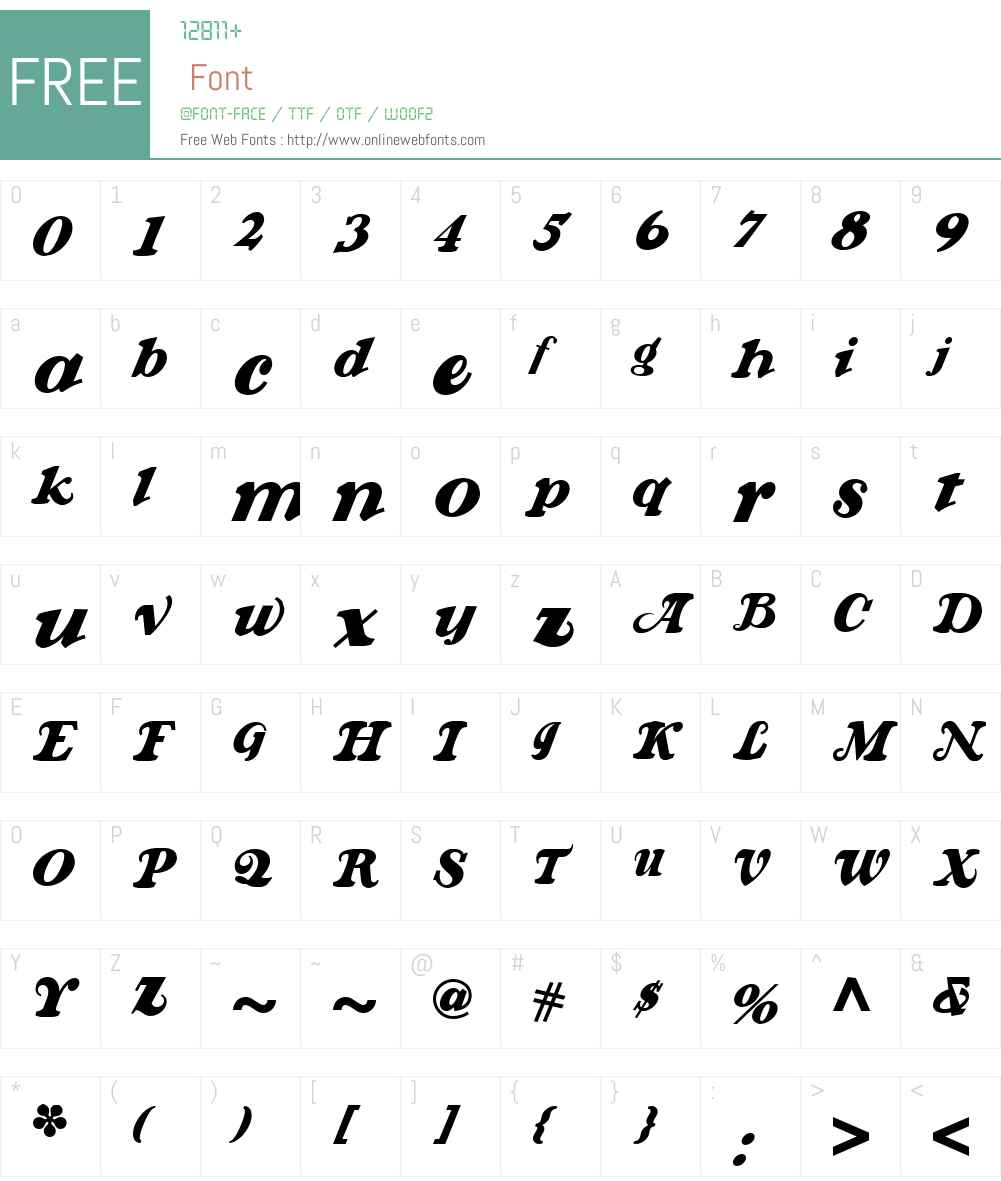 KrazyKracksNFW01-Italic Font Screenshots