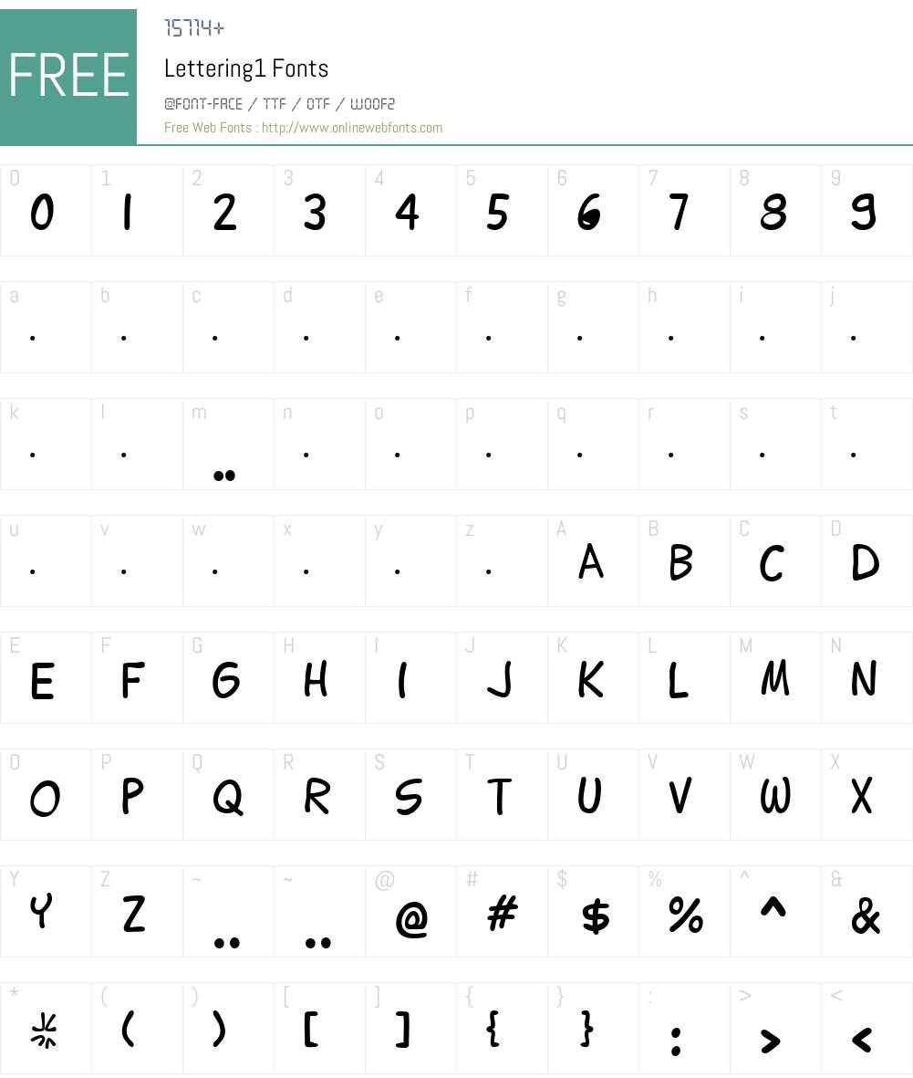 Lettering1 Font Screenshots