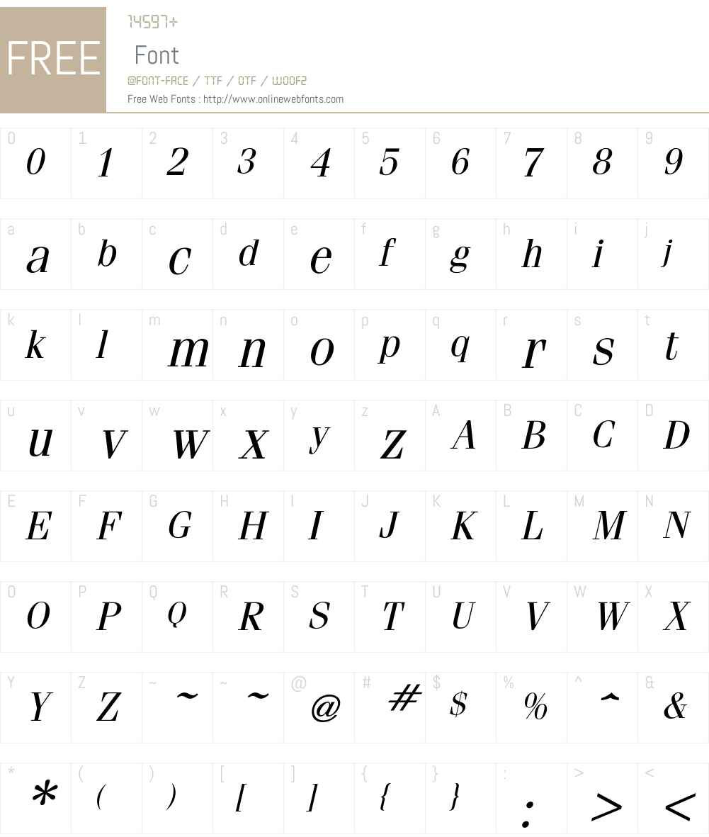 Fenice Font Screenshots