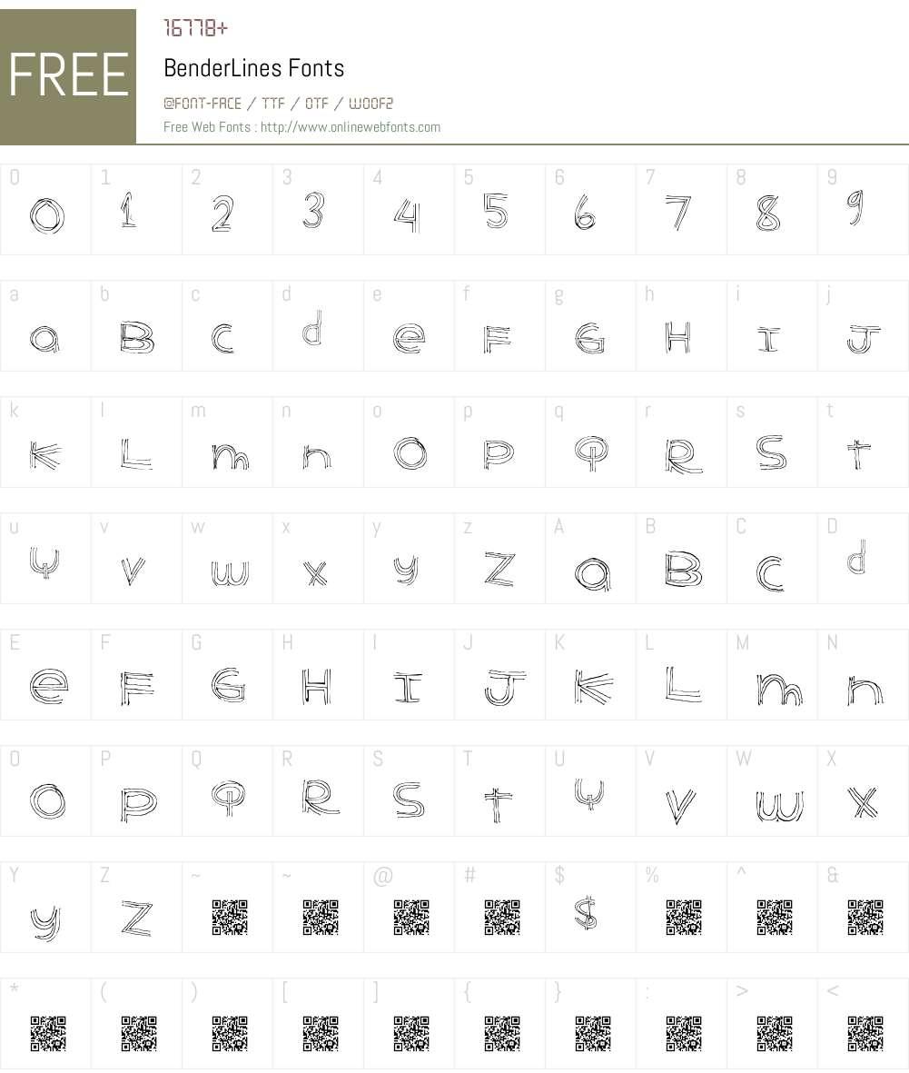 BenderLines Font Screenshots