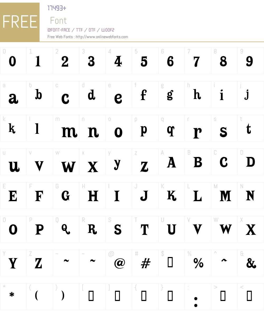 Putain Font Screenshots