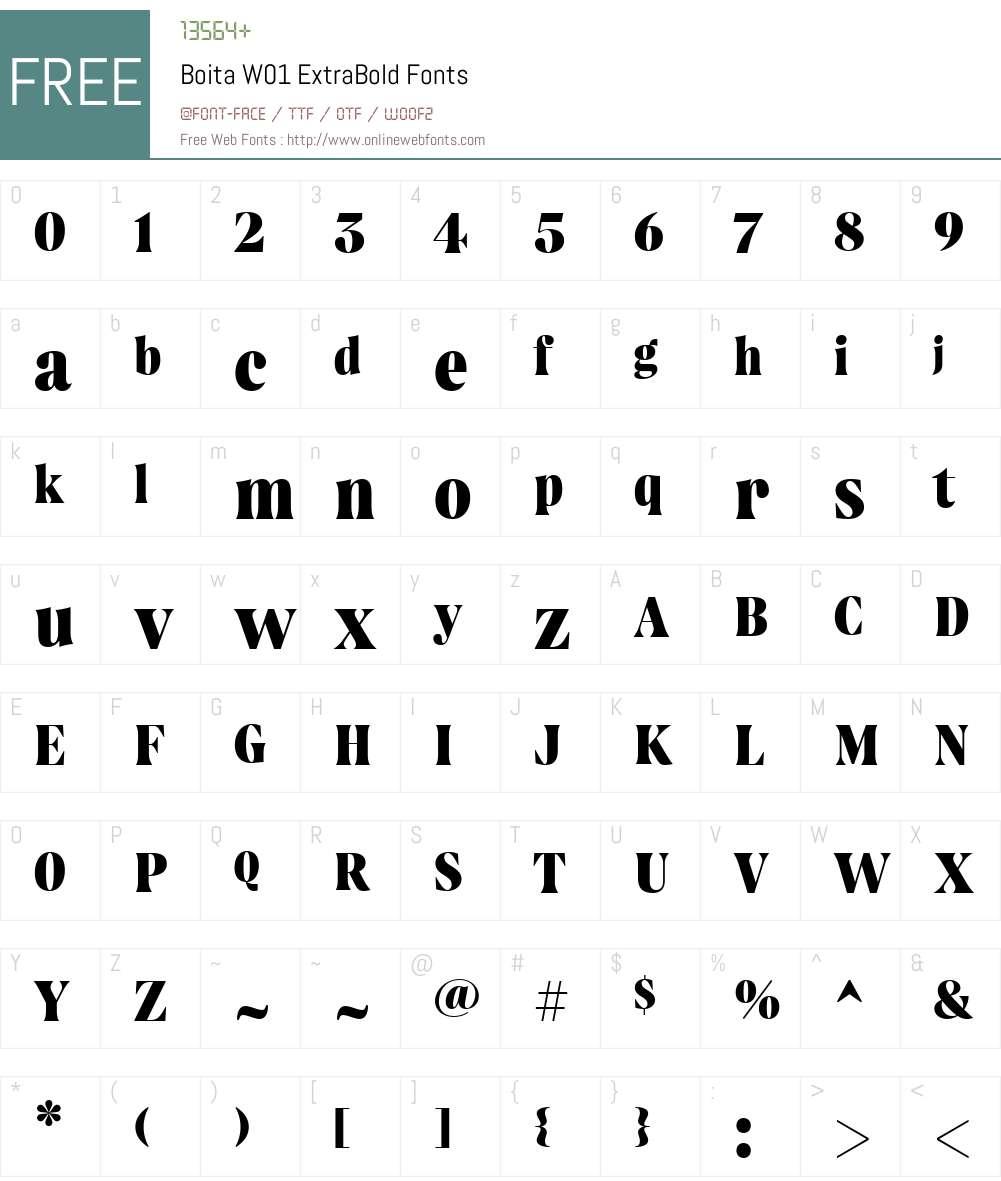 BoitaW01-ExtraBold Font Screenshots