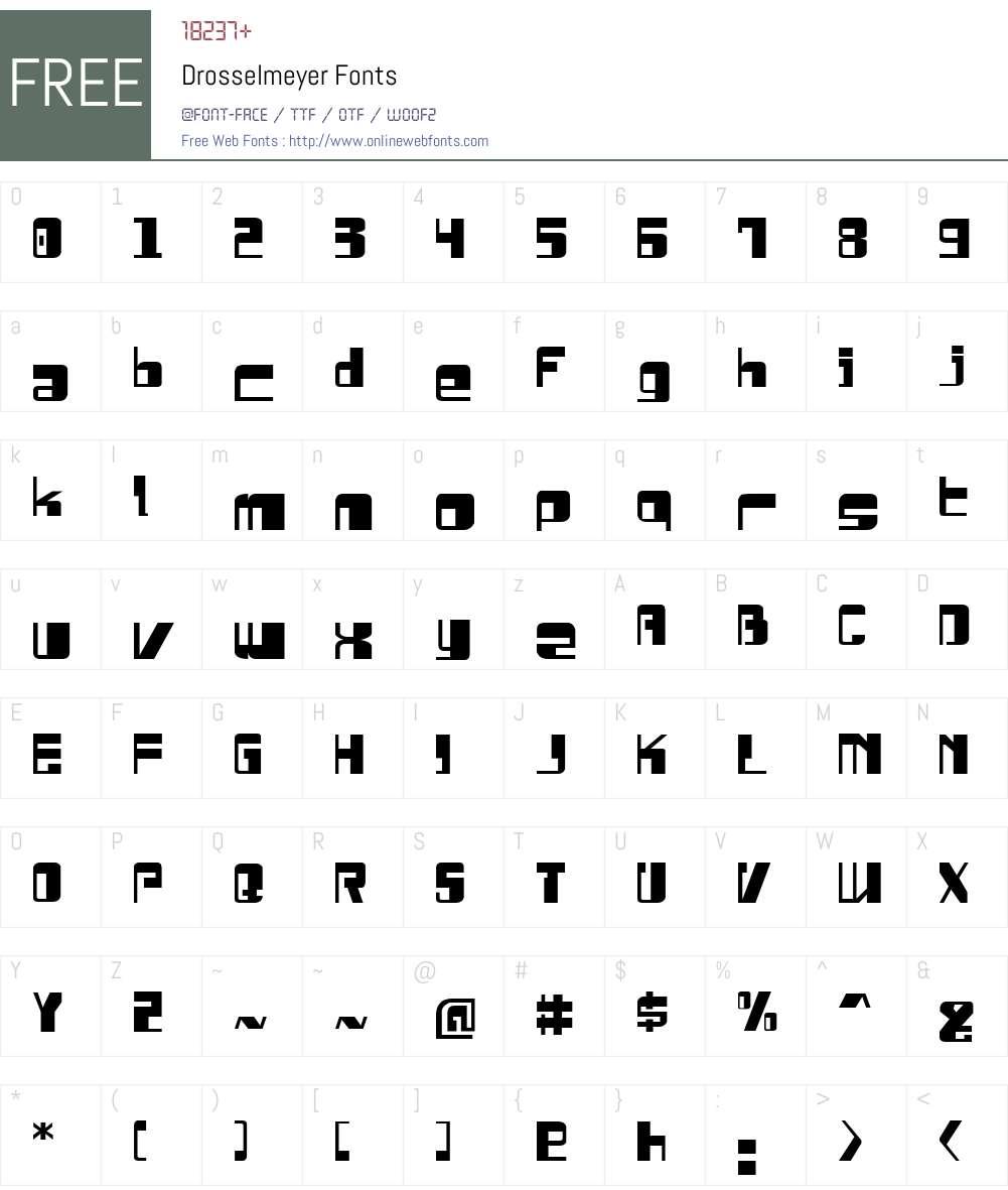 Drosselmeyer Font Screenshots