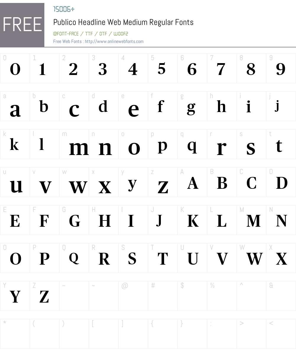 Publico Headline Web Medium Font Screenshots