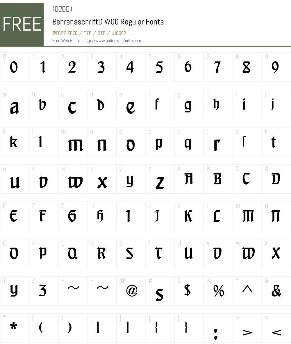 Behrens Schrift Font Screenshots