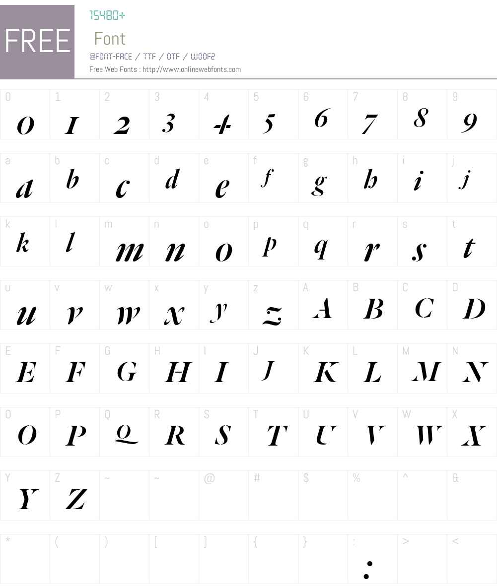 Dala Floda TT Roman No. 2 Font Screenshots