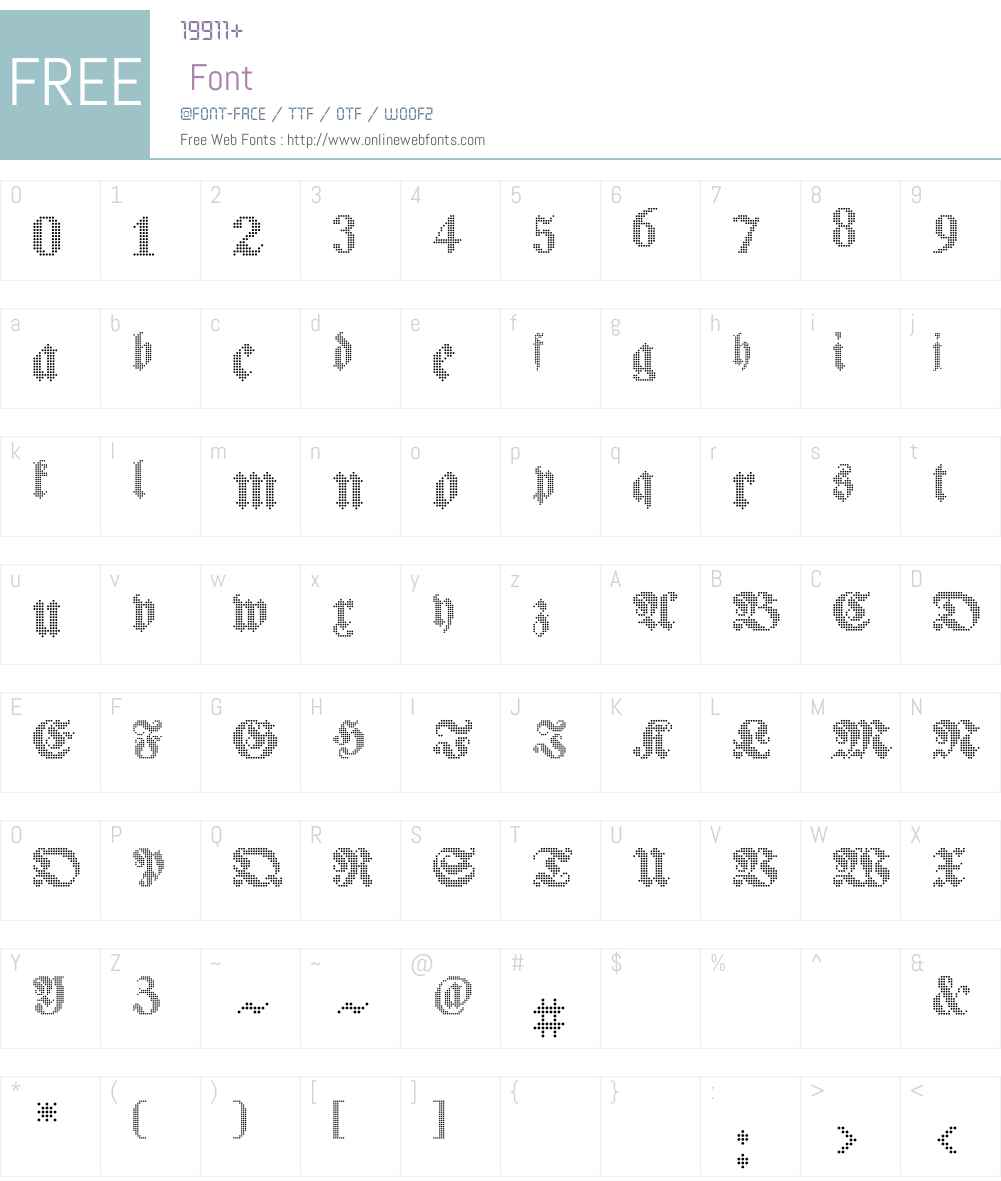 PixturDots Font Screenshots