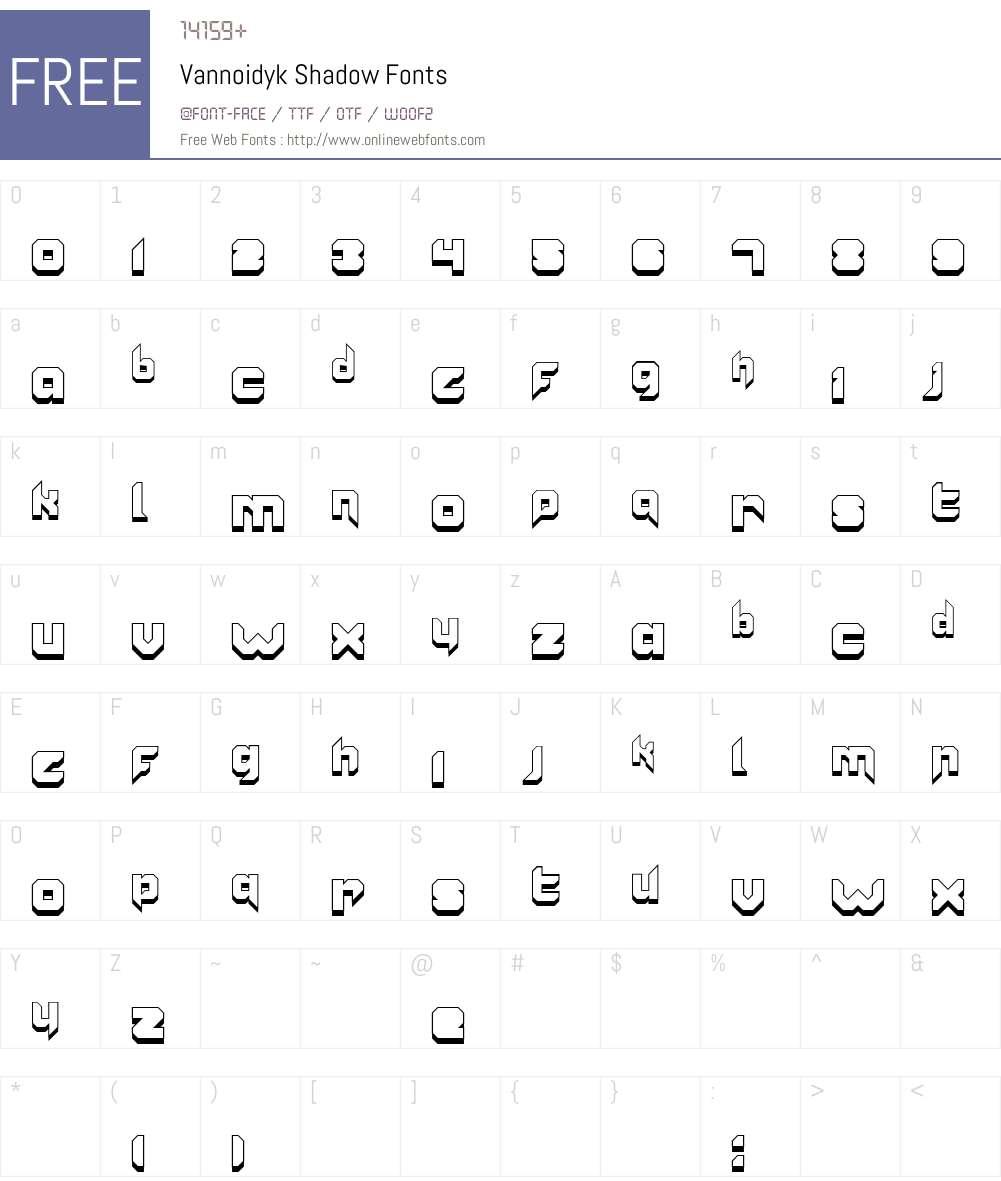Vannoidyk Font Screenshots