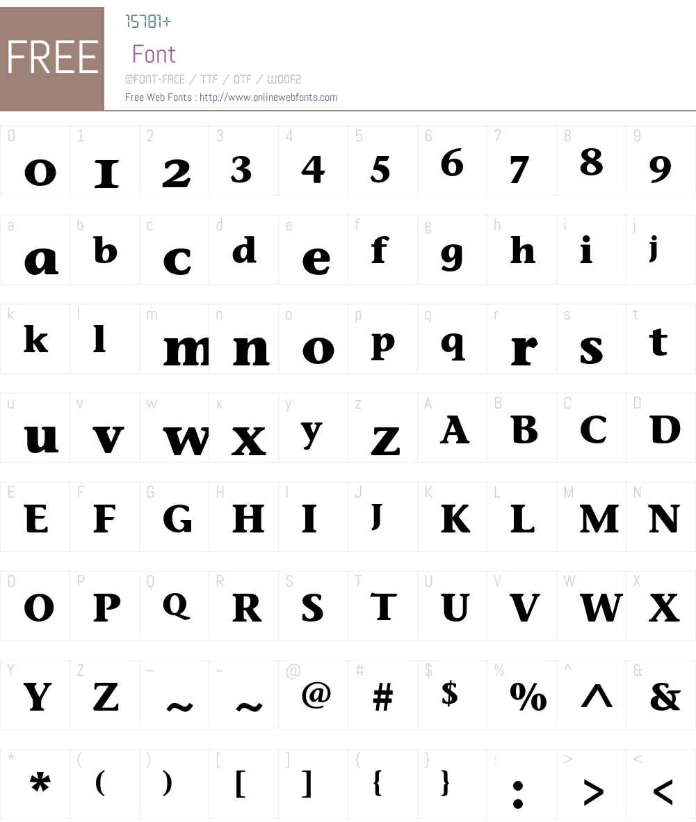 StoneInfOSITC Font Screenshots