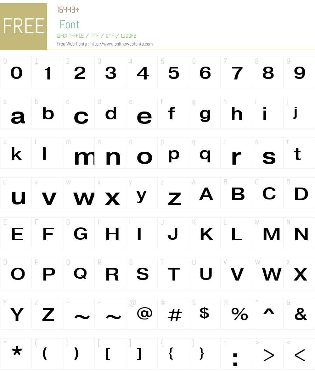 PragmaticaW01-ExtendedMed Font Screenshots