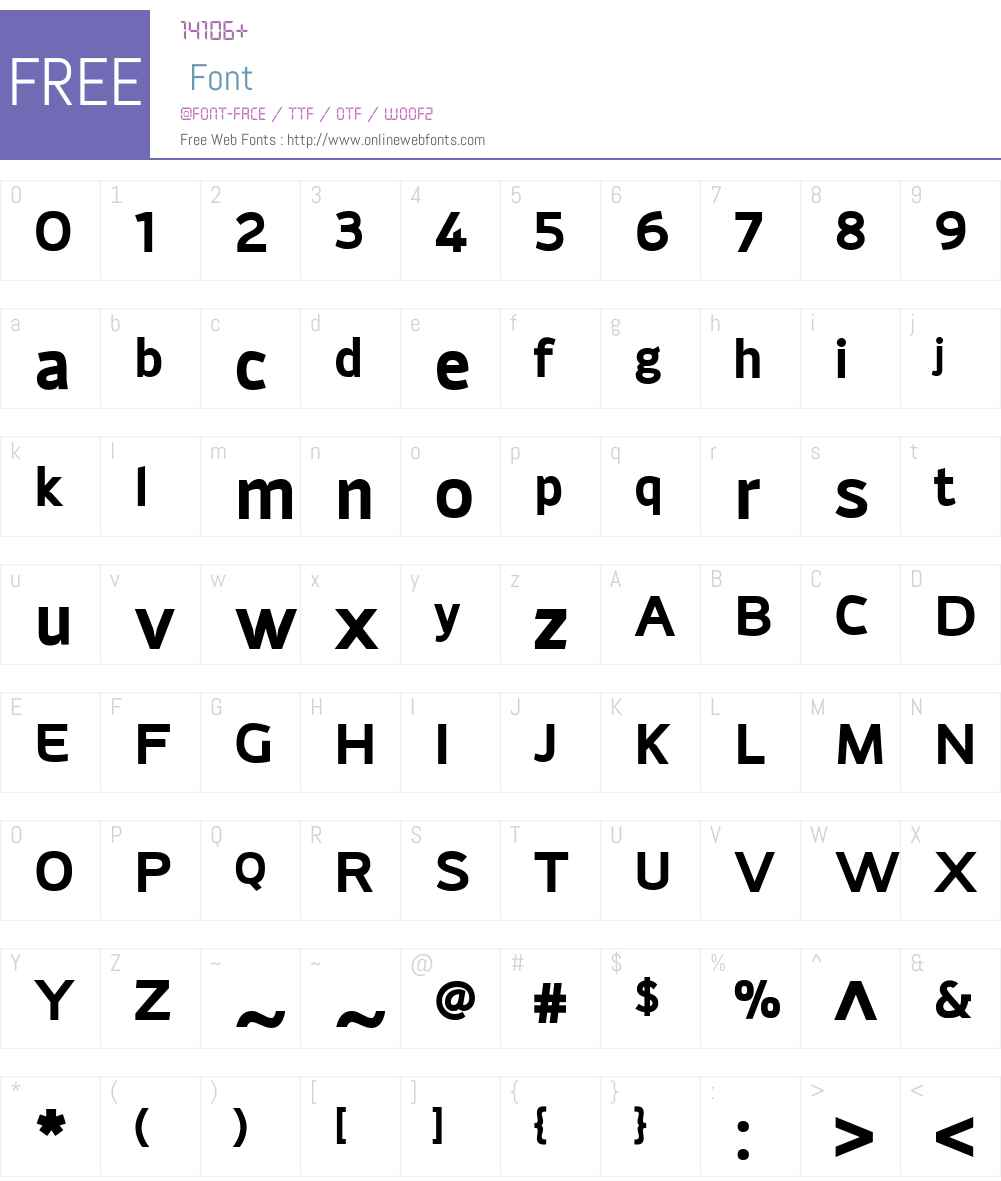 AdonideW01-Bold Font Screenshots