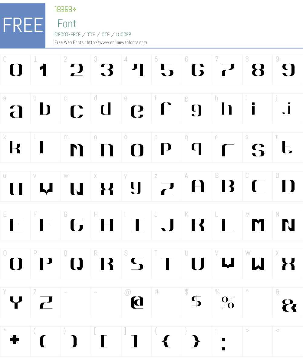 Hyperbola Font Screenshots