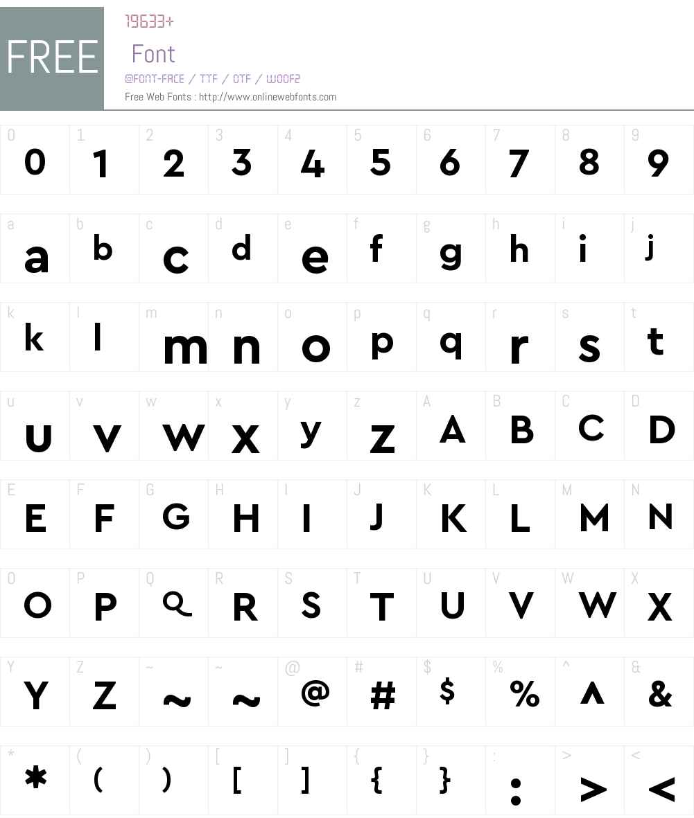 Cera Pro Font Screenshots