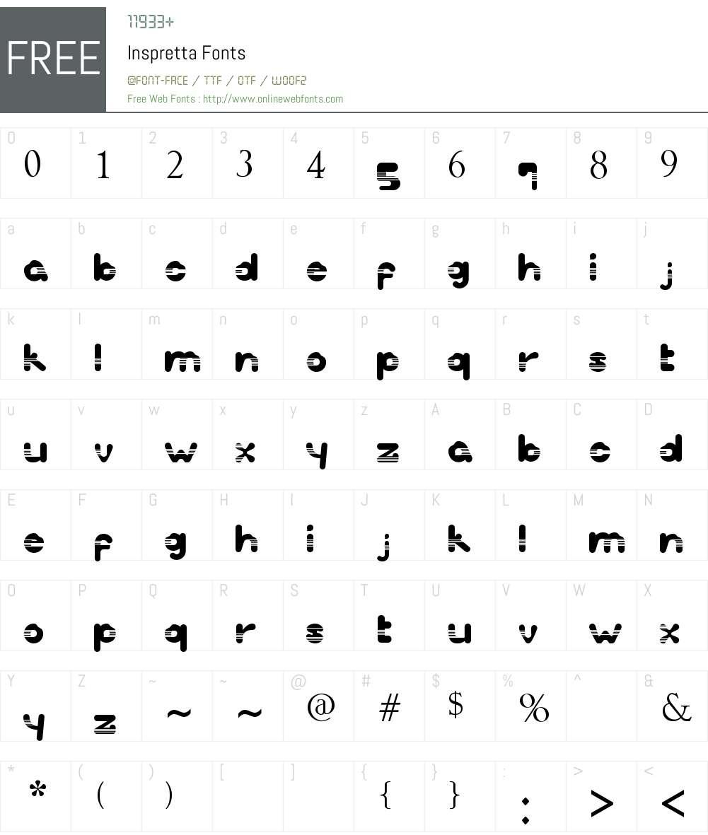 Inspretta Font Screenshots