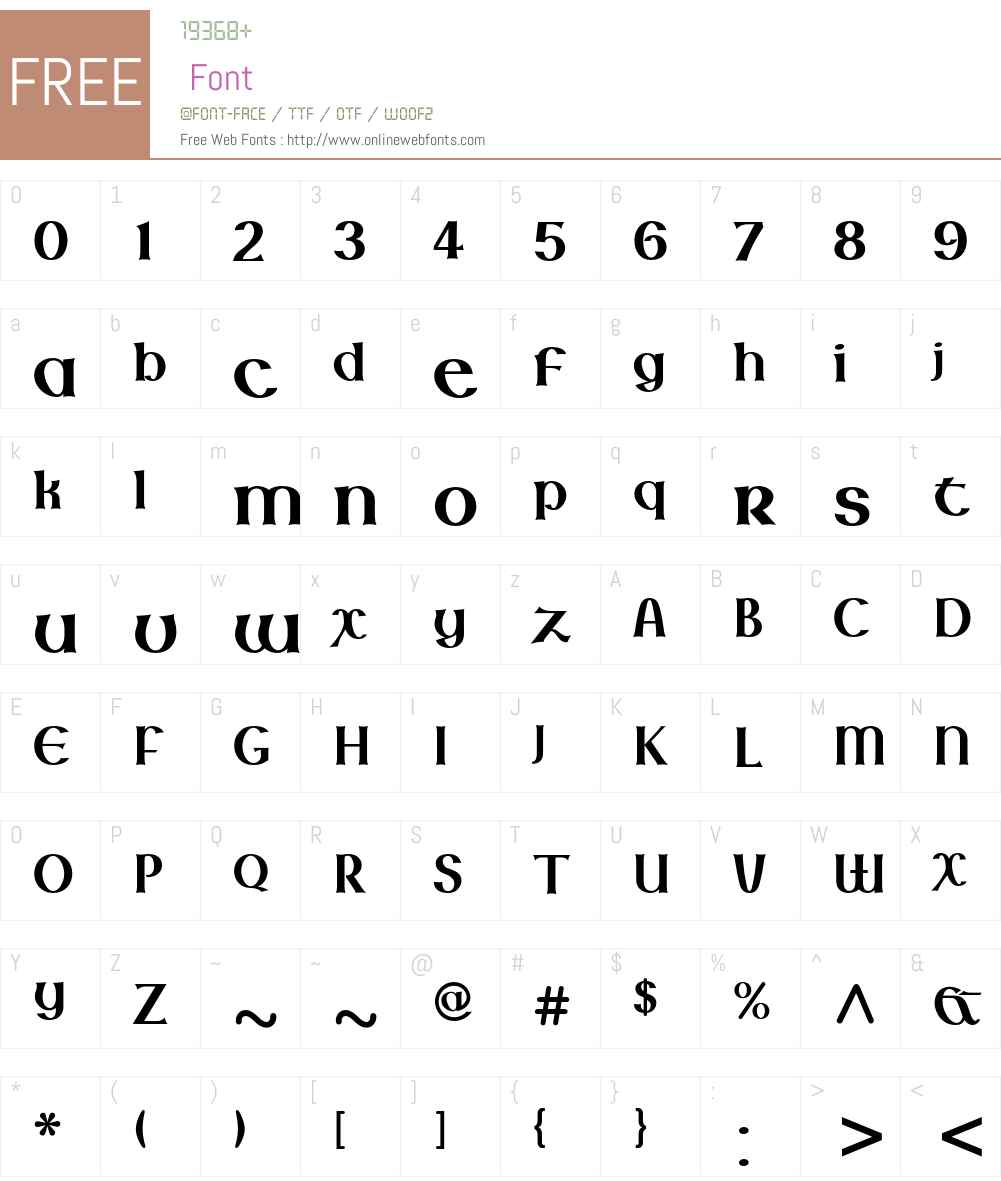 Lindisfarne Nova BT Font Screenshots